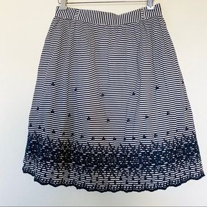 Kate Spade Striped Eyelet Full Short Skirt